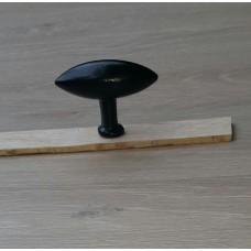 Eiknop zwart mat 66mm