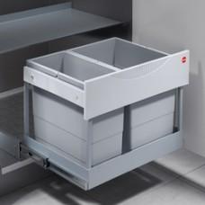 Hailo ruimte besparend Tandem S  afvalsysteem, 18L/12L voor kast vanaf 60cm