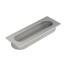 infreesgreep rechthoekig 125mm aluminium kleurig