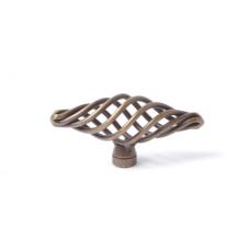 draadknop 74mm brons kleur