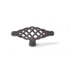 draadknop 74mm zwart