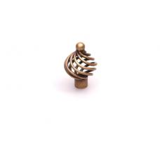 draadknop 34mm  brons kleurig