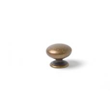 knop rond 33mm brons