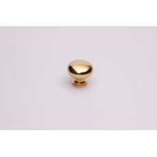 paddestoel knop rond 35mm messing glans