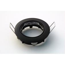 Kantelbare plafondspot ring zwart mat